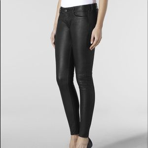 Allsaints Harrah Pipe Skinny Leather Pants- 29
